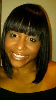 Sew in Bob with Bangs http://www.flickr.com/photos/stylesbycoko/4777545891/