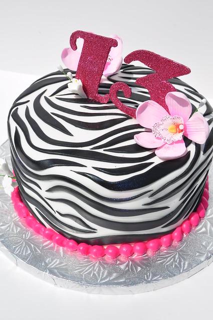 Zebra 13th Birthday Cake Flickr Photo Sharing