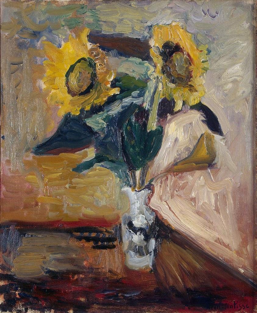 Henri Matisse Vase of Sunflowers