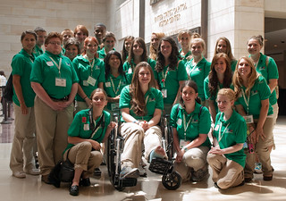 NJ 4-H Members pose for a group photo during CWF