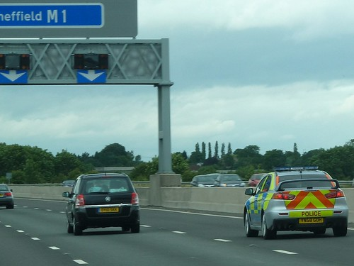 YN58 GOH - Mitsubishi Lancer Evo XGSR - Police Car - M1 Northbound Sheffield