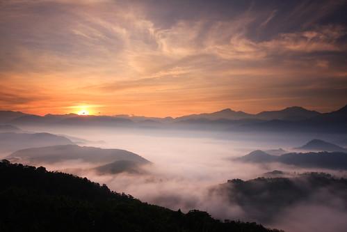 sunrise 日月潭 seaofclouds 雲海 日出 五城 仙楂腳