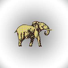 animal, elephant, elephants and mammoths, cartoon, illustration,