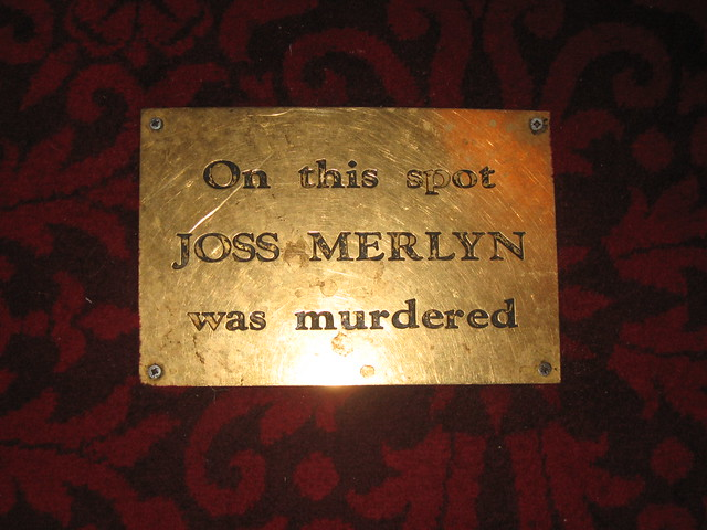 Sign on the floor at Jamaica Inn, saying