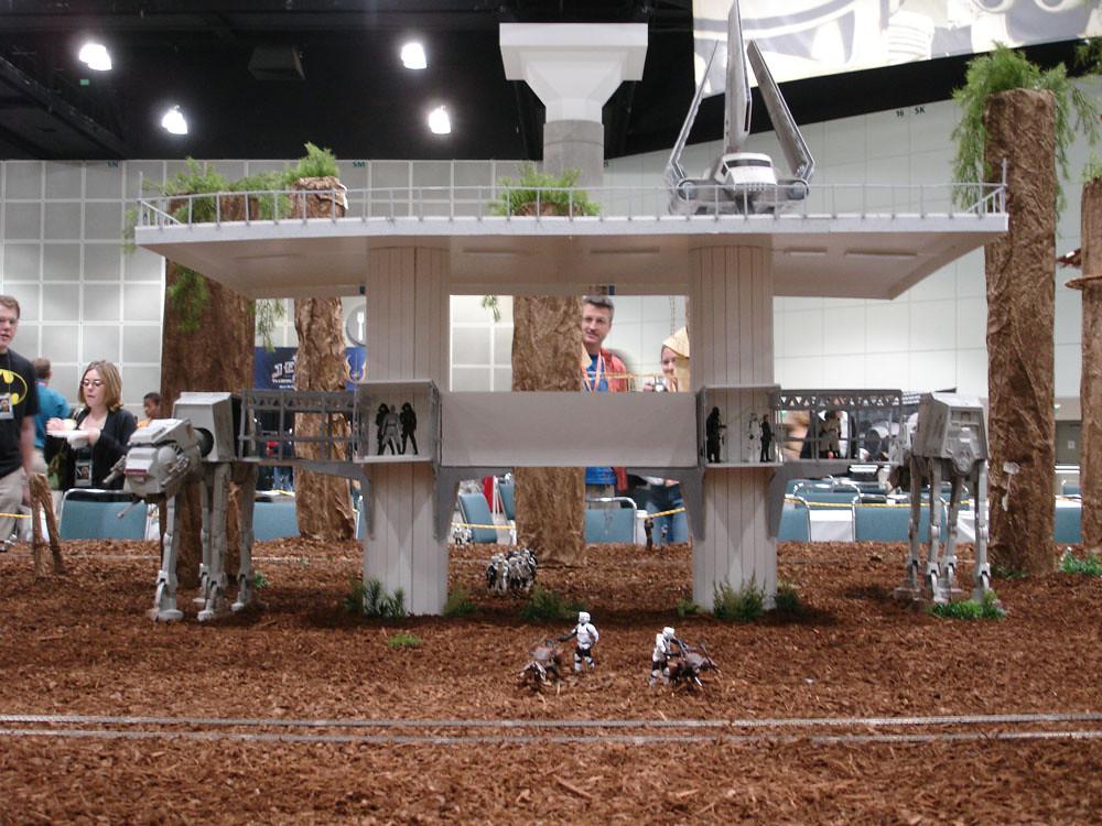Star Wars Celebration IV - Endor Ewok Village custom fan made diorama - Imperial landing platform