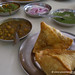 Samosas and Chana Masala for Breakfast at Sai Sweets in Chandigarh, India