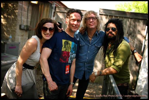 Melissa McClelland, Matt Chamberlain, Peter Stroud, & Eric McFadden - Lilith backstage 2010