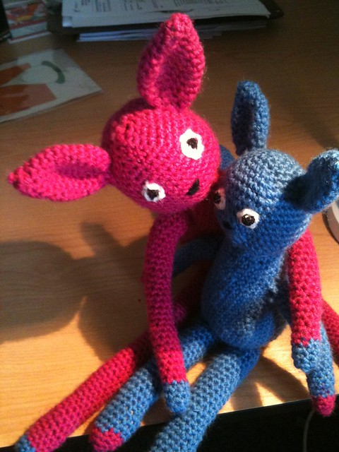 Amigurumi En Monsters : Amigurumi monsters! I made these guys for my cousin ...