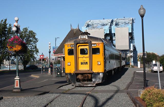 VIA Rail #6148, Victoria-Courtney RDC train, Victoria BC. July 23 2010.