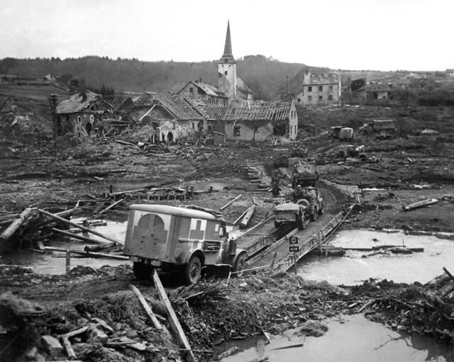 Germany village of Lünebach 1945