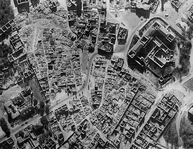 Darmstadt, Germany 1945 (bombed on 9-11-44 with 6x the civilian fatalities of 9-11-01)