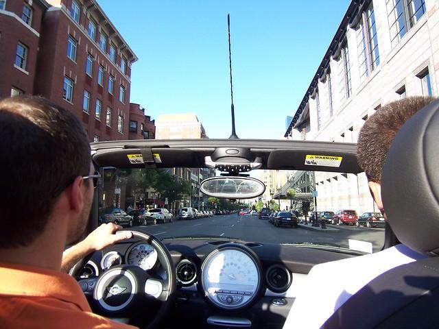 driving down boylston