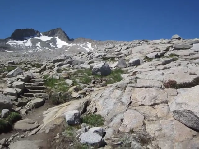 2210 Panorama video ascending to Donohue Pass on the PCT
