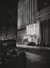 Hollywood at Night 1926, Los Angeles, by E.O. Hoppe
