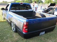 luxury vehicle(0.0), automobile(1.0), automotive exterior(1.0), pickup truck(1.0), vehicle(1.0), truck(1.0), chevrolet silverado(1.0), bumper(1.0), land vehicle(1.0),
