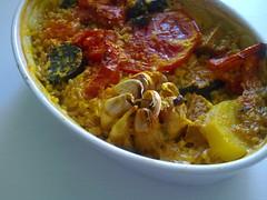 stew(0.0), curry(0.0), produce(0.0), vegetable(1.0), food(1.0), korma(1.0), dish(1.0), cuisine(1.0),