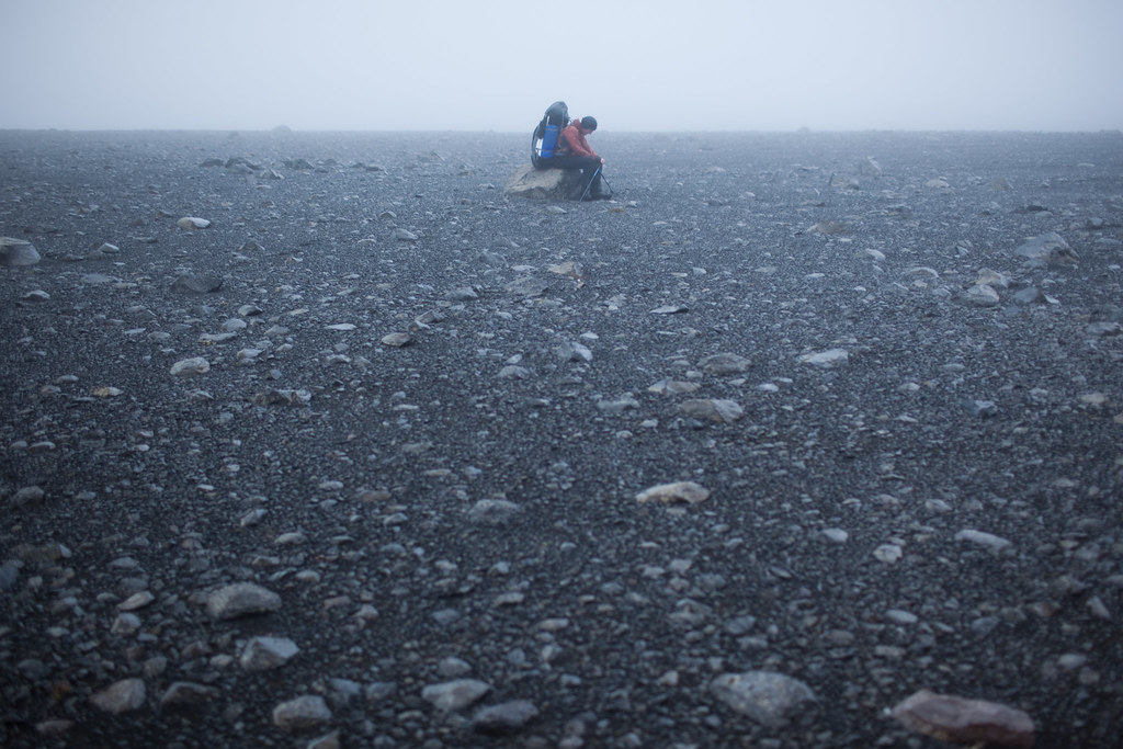Iceland crossing - tired, cold, wet