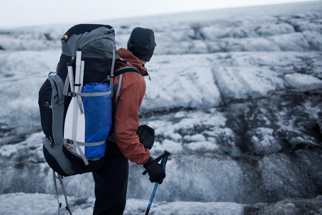 Crossing the Hofsjökull glacier, Iceland