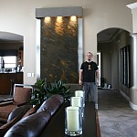 Business and Home Decor Wall Accent Logo Fountains / Fountain