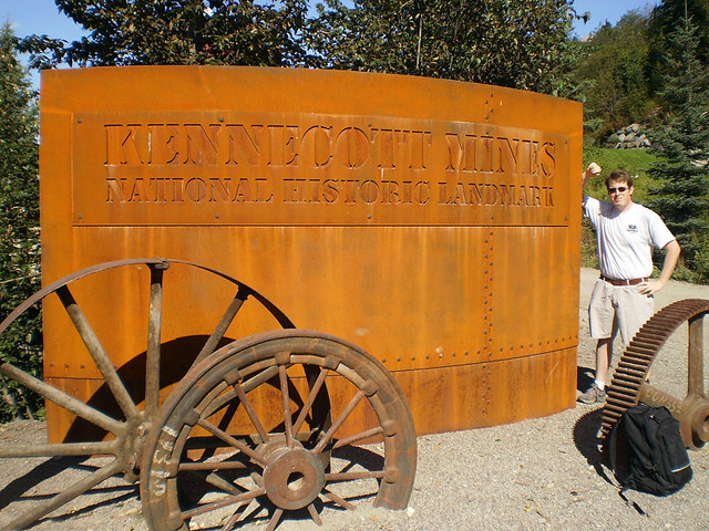 Me at Kennecott mines welcome sign