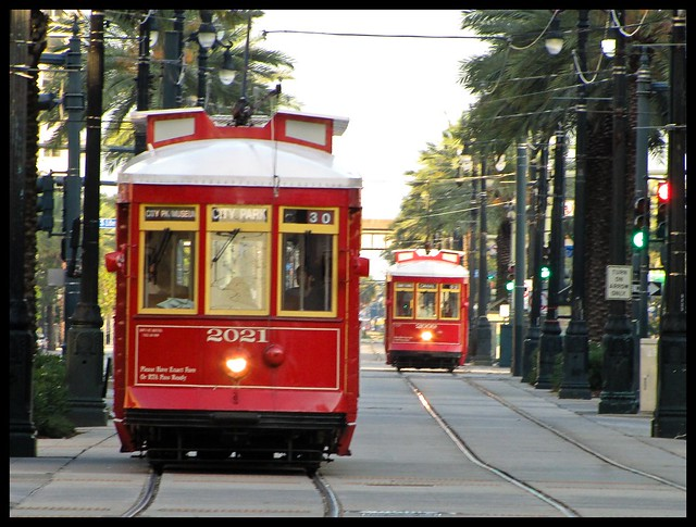 Streetcars in New Orleans: 2000 series - Perley A. Thomas Car Works 900 Series Replicas from Flickr via Wylio