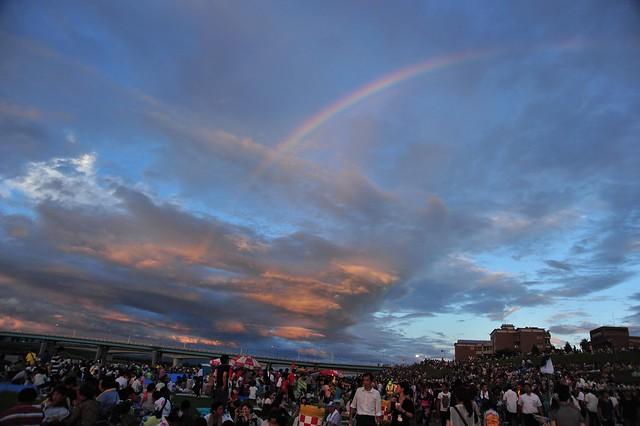 rainbow, 筑後川花火大会