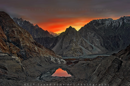 pakistan mountain lake mountains reflection nature water sunrise landscape dawn sony karakoram areas alpha northern 700 northernareas passu gigit atifsaeed gettyimagespakistanq1