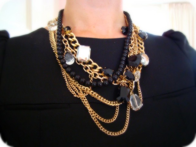Gold & Black Necklace
