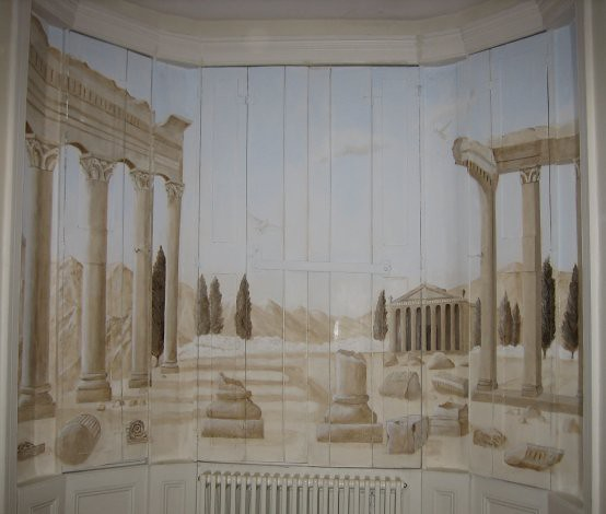 Ancient Greek Trompe L'oeil Mural On Shutters  Flickr. Risks Signs. Conference Room Murals. Main Cause Signs. Burger Stickers. Charcot Marie Signs. Different Word Lettering. Dot Day Murals. Jesus Signs