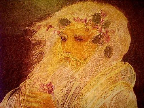 #6 FOR SALE Susan Boulet Original Oil Pastel Painting: King Lear & The Fool