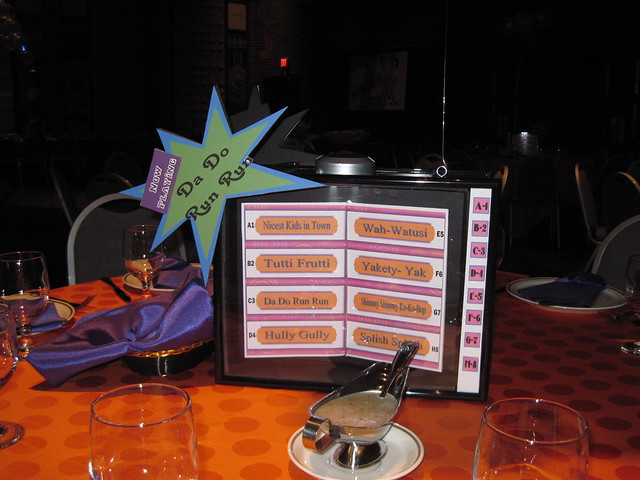 Juke box centerpiece s themed bat mitzvah at this