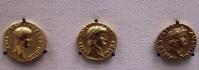 Aurei of Nero, Roman Britain, British Museum
