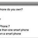 Smartphone question on a SXSW survey