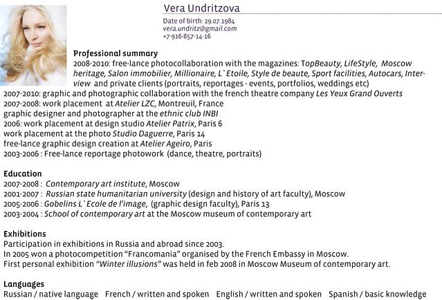 PortFolio Vera Undritzova