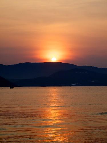 Sunrise at Nha Trang beach