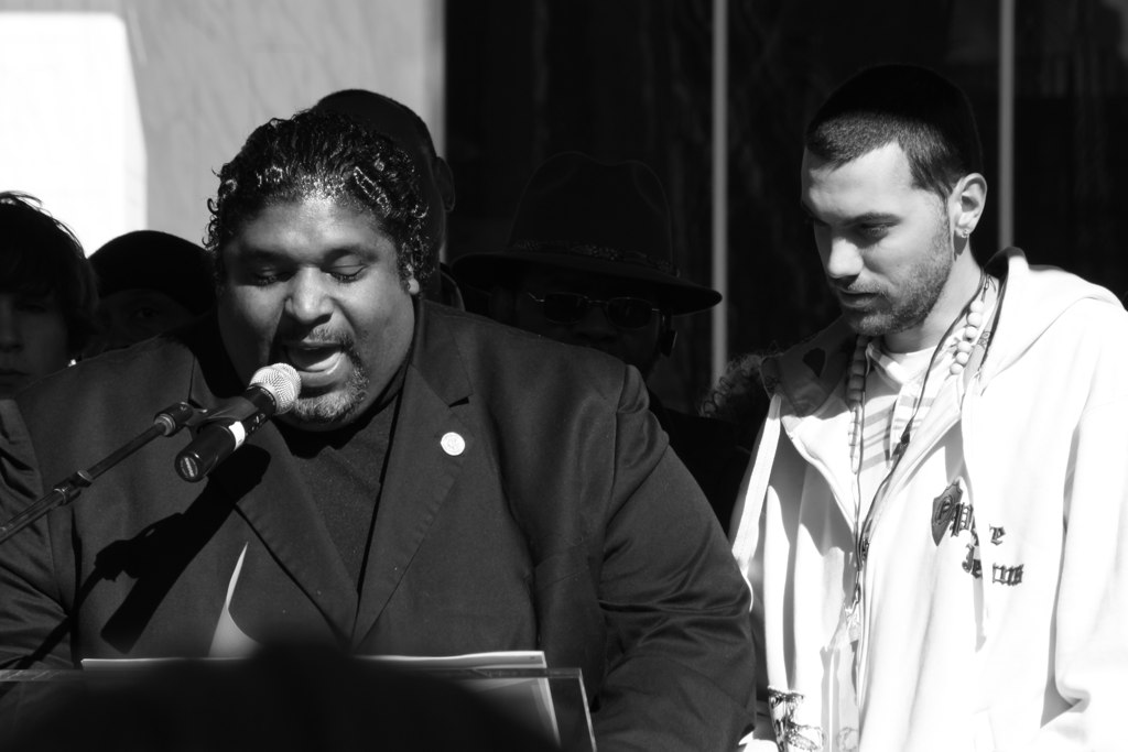 Rev. Dr. William Barber and Kane from the Sacrificial Poets