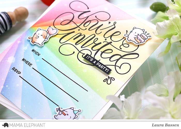 Mama Elephant-DIY Invitation & Invitation Wishes
