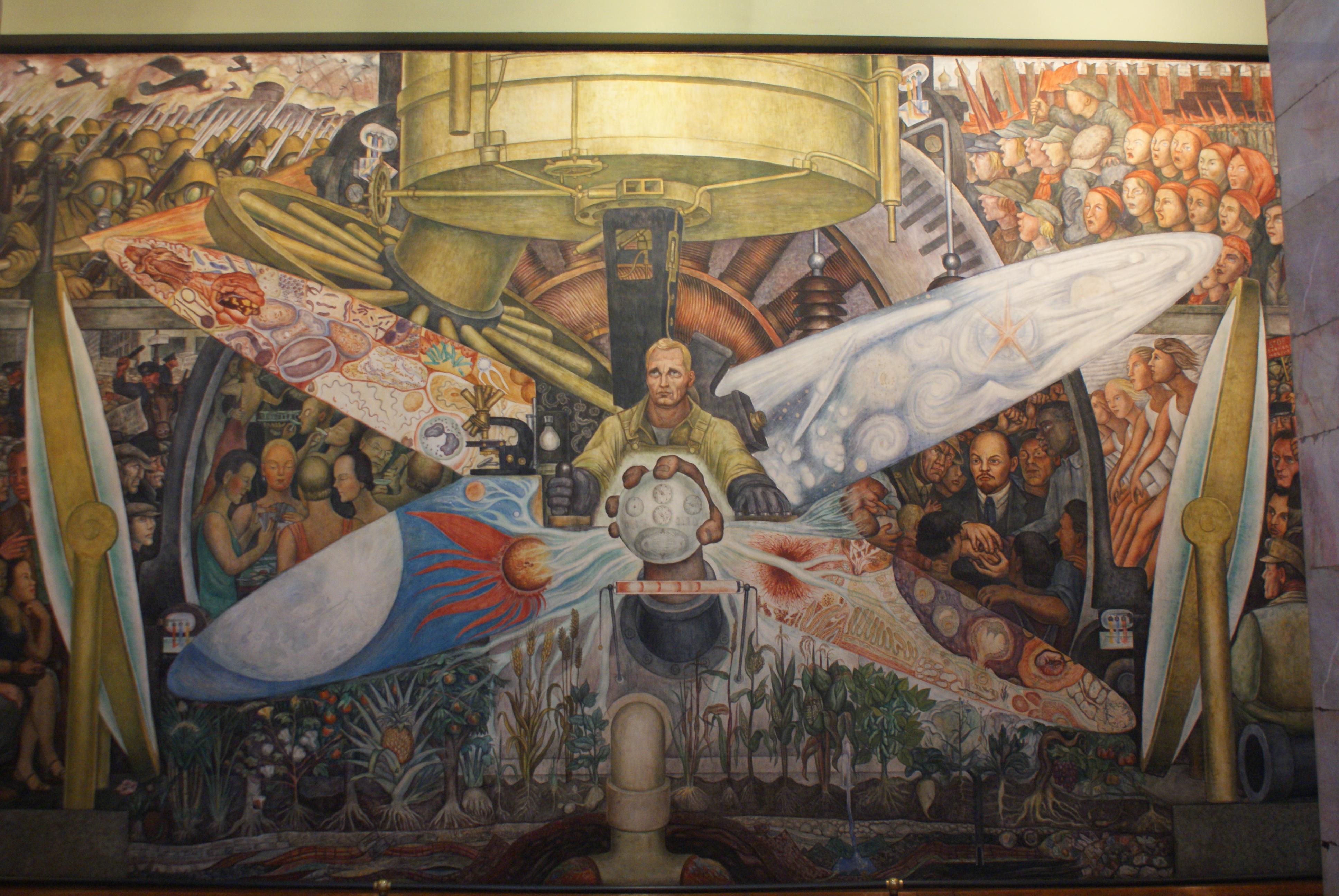 Admirado se or rivera querido doctor einstein cultura for Diego rivera mural new york