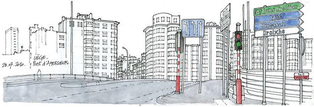 Liège, pont d'Amercoeur
