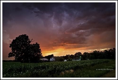 sunset storm field minnesota clouds farm distantrain d3s