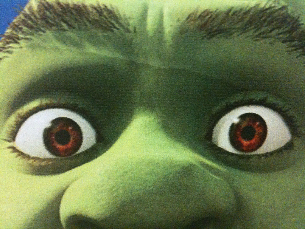 Shrek eyes