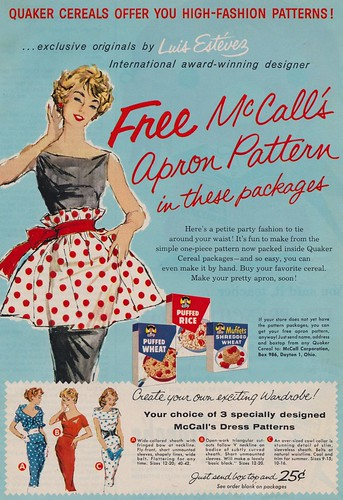 Free McCall's Apron Pattern by What Makes The Pie Shops Tick?