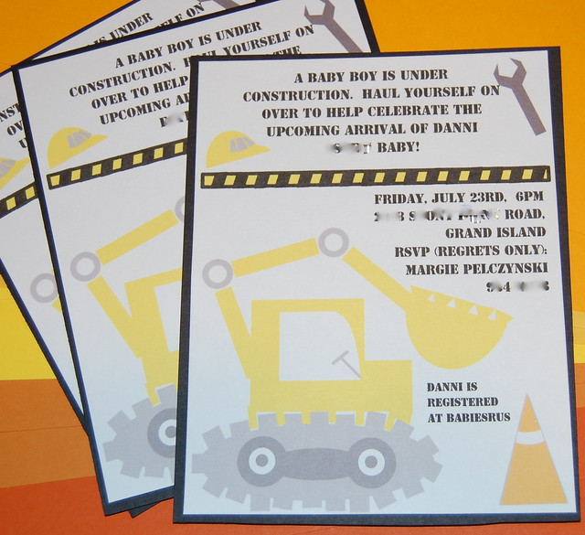 invite for construction themed baby shower flickr photo sharing