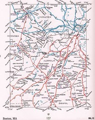 Boston Area Rail Map 1946