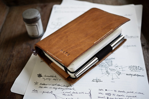 Moleskine Time/Note, Penholder and leather cover