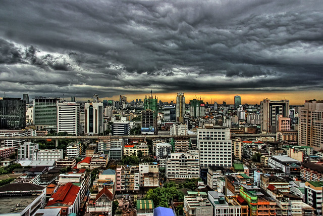 Storm Approaching Bangkok, Thailand