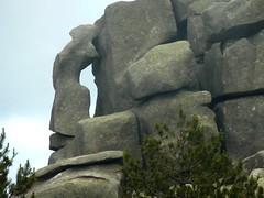 Uomu di Cagna - Bocca di Monaco : forme rocheuse sur la crête
