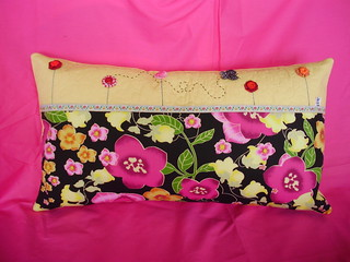 Almofada romântica floral