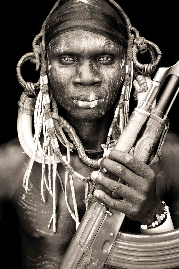 mursi warrior / omo valley