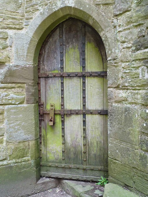 Tintern Abbey ruins door
